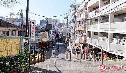 東京自由行谷根千景點谷中銀座商店街夕陽階梯