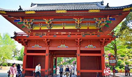 東京自由行上野景點根津神社樓門