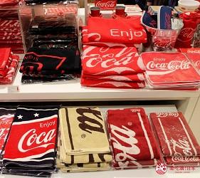 台場景點aqua city逛街購物Coca-Cola Store毛巾