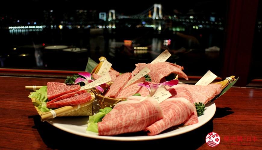 台場逛街購物景點aqua city美食燒肉GARUVA