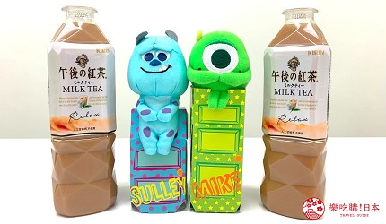 日本午後的紅茶瓶裝毛怪大眼仔包裝開箱照