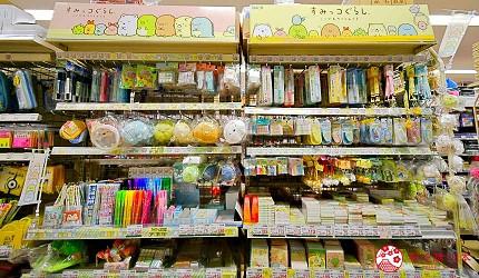 「シモジマ 下岛包装广场 浅草桥本店」的角落生物专柜