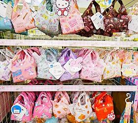 「シモジマ 下岛包装广场 浅草桥本店」贩售的卡通环保袋