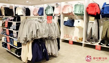 新宿推薦百貨公司「西武新宿PePe」的GU(ジーユー)的童裝區