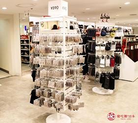 新宿推薦百貨公司「西武新宿PePe」的GU(ジーユー)的耳環皮包配件