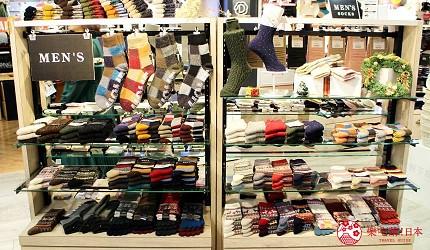 新宿推薦百貨公司「西武新宿PePe」的襪子專賣店「靴下屋」的男襪