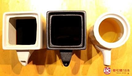 日本國產牛吃到飽推薦「燒肉風風亭」的醬汁照片