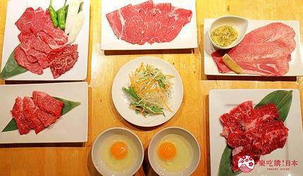 日本國產牛吃到飽推薦「燒肉風風亭」的燒肉照片