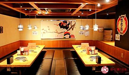 日本「国産牛焼肉ふうふう亭 JAPAN 西武新宿駅前店」的店內環境