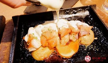 雞腿肉起司鐵板燒加起司醬