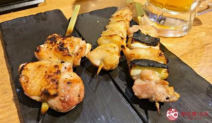 綜合雞肉串燒