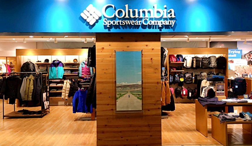 台場購物中心aquacity購物戶外品牌Colombia
