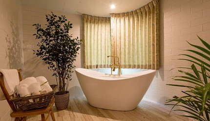 東京近郊景點輕井澤住宿Auberge-de-Primavera房內浴缸