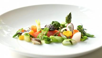 輕井澤餐廳住宿Auberge-de-Primavera法式料理溫製淺漬地產蔬菜及信州鮭魚