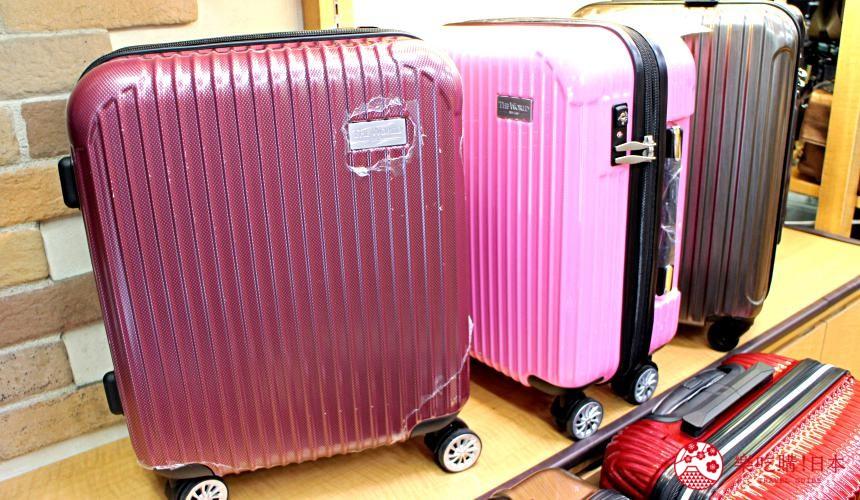 东京银座人气行李箱、包包专卖店「Ginza Karen」的行李箱颜色大小选择多元