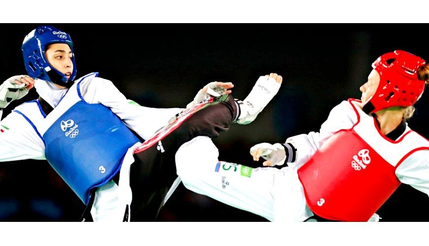 2020東京奧林匹克運動項目日語教學的跆拳道(テコンドー)形象圖