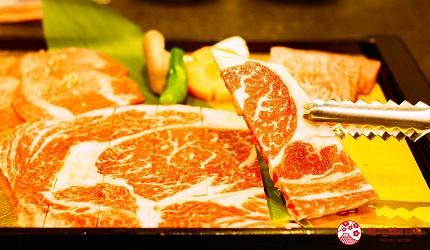 日本和牛吃到饱东京人气烧肉名店「六歌仙」的和牛肉片