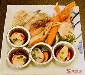 日本和牛吃到饱东京人气烧肉名店「六歌仙」的各种海鲜蟹脚干贝