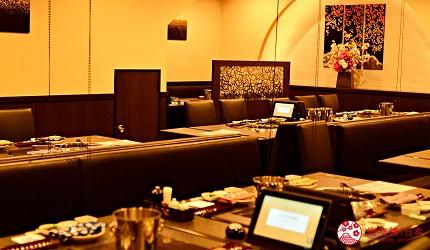 日本和牛吃到饱东京人气烧肉名店「六歌仙」的店内座位