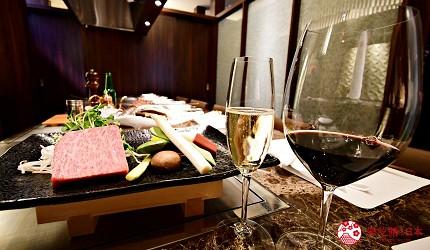 東京的神戶牛鐵板燒專門店「神戸牛すてーきIshida. 銀座本店」內提供不同種類的餐酒以配合客人的需求