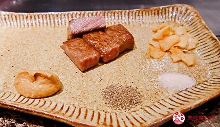 東京的神戶牛鐵板燒專門店「神戸牛すてーきIshida. 銀座本店」內的牛排肉質鮮嫩