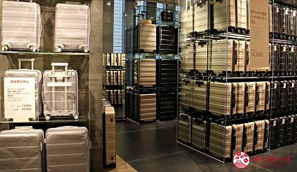 無印良品銀座旗艦店三樓旅行用品行李箱銀座限定色