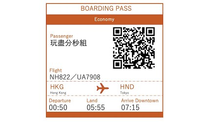 賺盡ANA Mileage的ANA航空前往東京的航班NH822