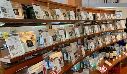 日本長野輕井澤一日遊「舊輕井澤銀座通」的「榆樹街小鎮」的「丸山咖啡」店內自家烘焙咖啡豆