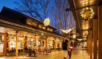 日本旅行東京近郊長野輕井澤冬天榆樹街小鎮雪景