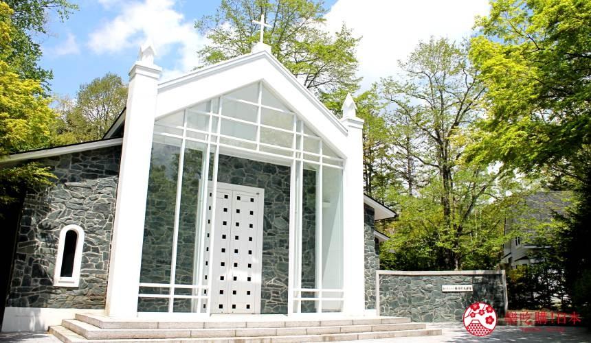 日本長野輕井澤一日遊必去人氣景點建築大師隈研吾操刀的「白樺森教堂」