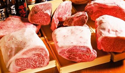 位於銀座地區,能一次吃遍日本三大和牛的和牛涮涮鍋店「銀座しゃぶ輝」內提供的鮮肉