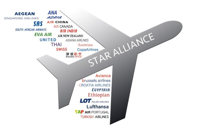 星空聯盟成員航空公司圖示