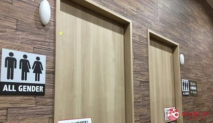 亚洲同志第2友善城市「东京」涩谷区的唐吉诃德设置的性别友善厕所
