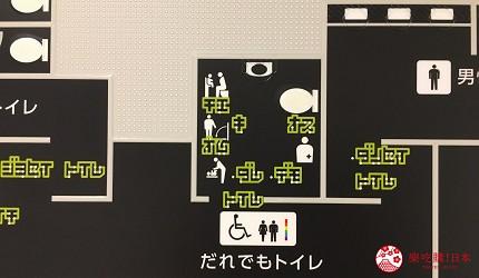 亚洲同志第2友善城市「东京」涩谷区役所设置的性别友善厕所厕所分布图