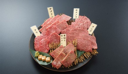 距離「MITSUI OUTLET PARK木更津」只需10分鐘步程,以親民價格提供和牛燒肉料理的「焼肉DINING大和 木更津金田店」提供的高品質5種類稀有部位牛肉拼盤