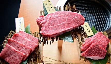 距離「MITSUI OUTLET PARK木更津」只需10分鐘步程,以親民價格提供和牛燒肉料理的「焼肉DINING大和 木更津金田店」提供的高品質究極和牛拼盤中有的夏多布里昂牛排