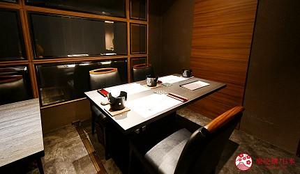 日本東京旅遊銀座高級壽司推薦推介江戶前壽司OMAKASE「鮨ふくじゅ」的包廂座位