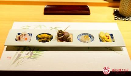 银座高级寿司推荐必吃「鮨ふくじゅ」:精致生鱼片、鲔鱼中腹…15,000日元吃26道超满足