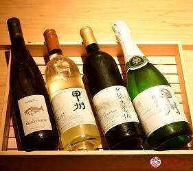 日本東京旅遊銀座高級壽司推薦推介江戶前壽司OMAKASE「鮨ふくじゅ」的日本酒獺祭日本產紅酒