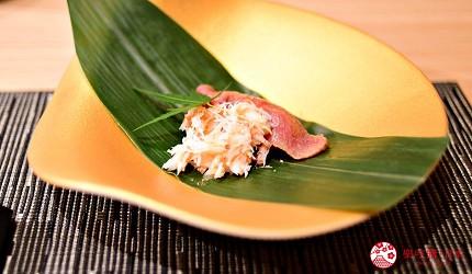 銀座和牛涮涮鍋推薦黒毛和牛しゃぶしゃぶ吟前菜炙燒牛肉壽司及蟹肉鬆