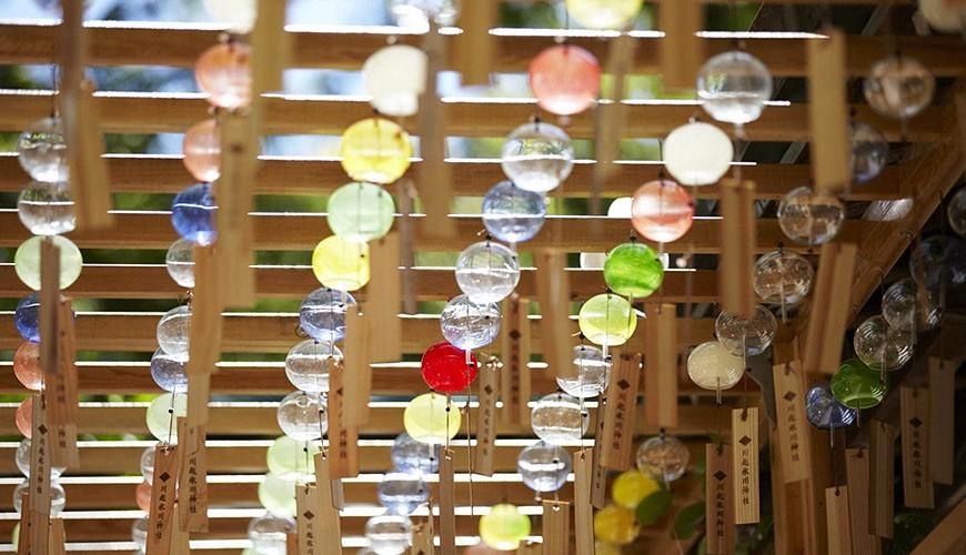 日本東京埼玉旅遊自助旅行自由行關東祭典夏天的風物詩川越冰川神社緣結風鈴祭