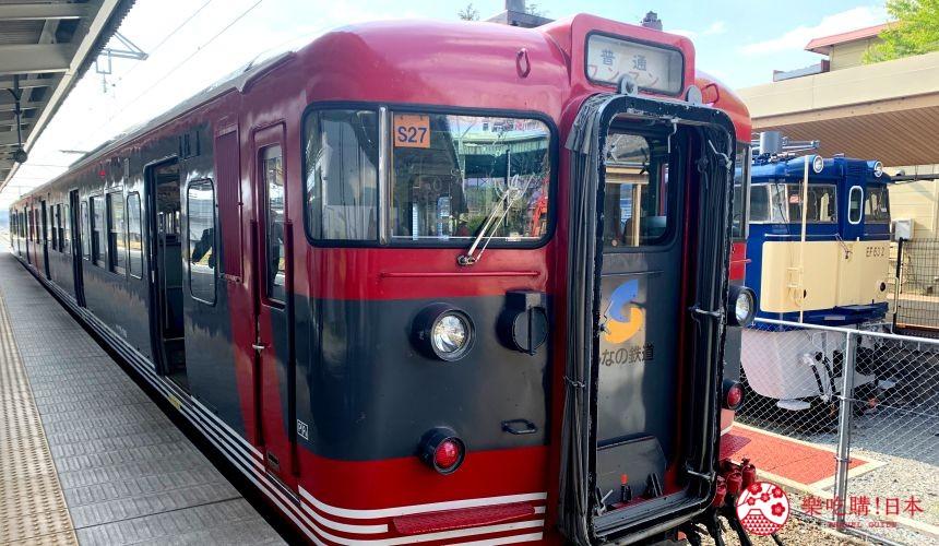 輕井澤一日遊最強交通指南之輕井澤的信濃鐵道列車