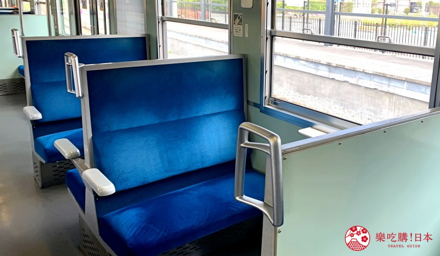 輕井澤一日遊最強交通指南之輕井澤的信濃鐵道列車內裝復古