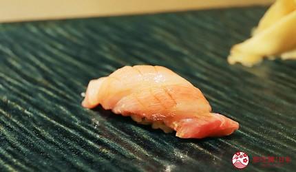 東京新宿歌舞伎町高級壽司店推薦「鮨佐和」的主餐大鮪魚腹鮮魚壽司