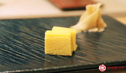 東京新宿歌舞伎町高級壽司店推薦「鮨佐和」的玉子燒