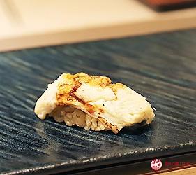東京新宿歌舞伎町高級壽司店推薦「鮨佐和」的主餐星鰻(穴子)鮮魚壽司