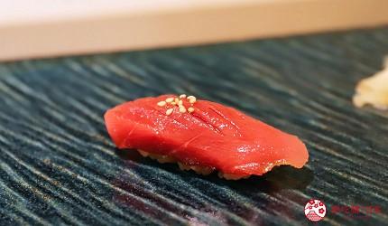 東京新宿歌舞伎町高級壽司店推薦「鮨佐和」的主餐本鮪魚鮮魚壽司