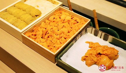 東京新宿歌舞伎町高級壽司店推薦「鮨佐和」的海膽