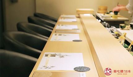 東京新宿歌舞伎町高級壽司店推薦「鮨佐和」的櫃檯座位