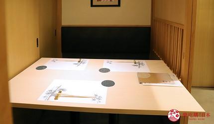 東京新宿歌舞伎町高級壽司店推薦「鮨佐和」的店內包廂座位